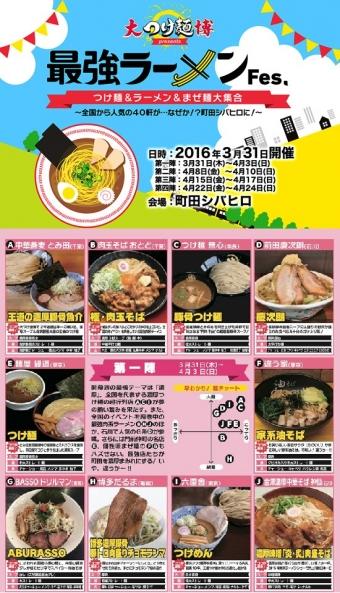 大つけ麺博2016町田第1陣