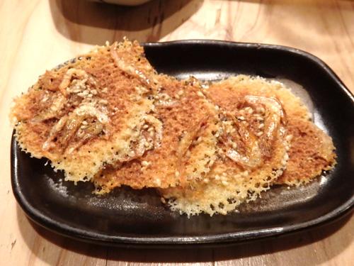 25桜海老のチーズカリカリ焼き