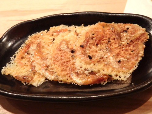26桜えびのチーズカリカリ焼き