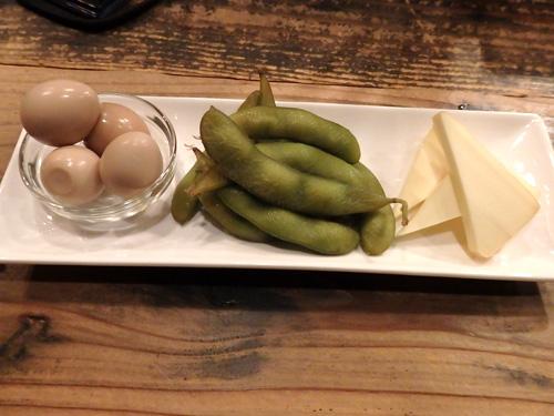 08おまかせ3種うずら枝豆カマベールチーズ