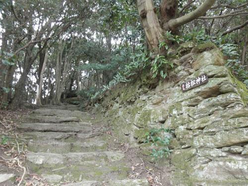 枯松神社への道