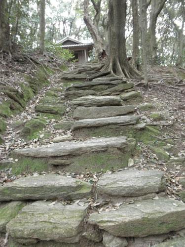 枯松神社への道2