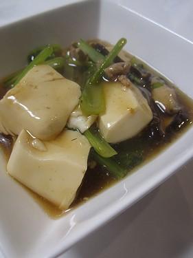 20151021 小松菜と豆腐のオイスター煮