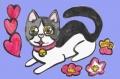 4ハートのある猫絵 (2)