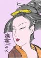 4浮世絵喜多川歌麿当時三美人 (2)