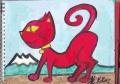 4猫の絵赤猫 (1)