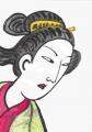 4鈴木春信島田髷の茶汲み娘