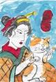 3浮世絵 歌川国芳猫と遊ぶ娘(2)