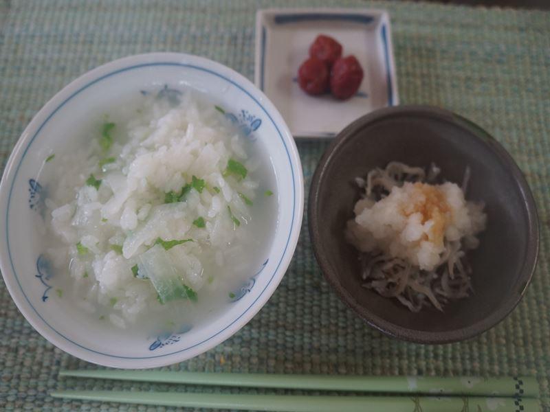 風邪の朝食