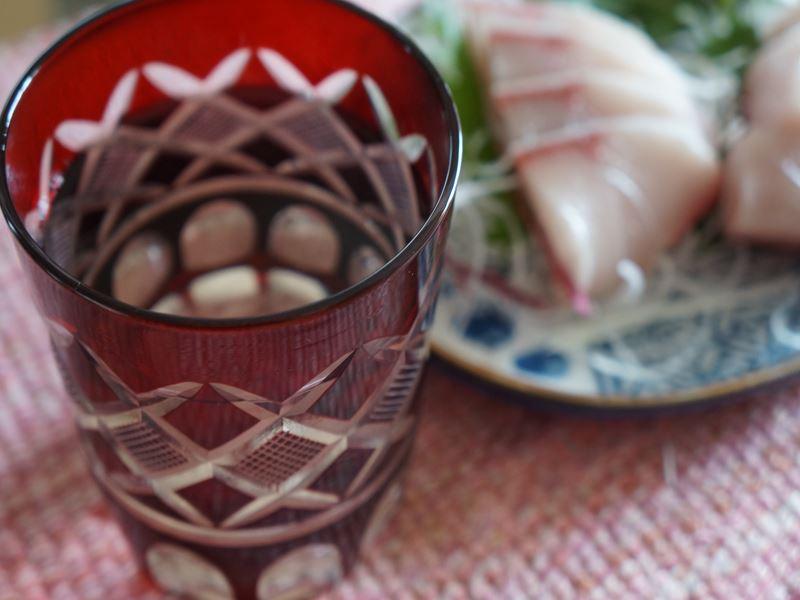 切子と刺身