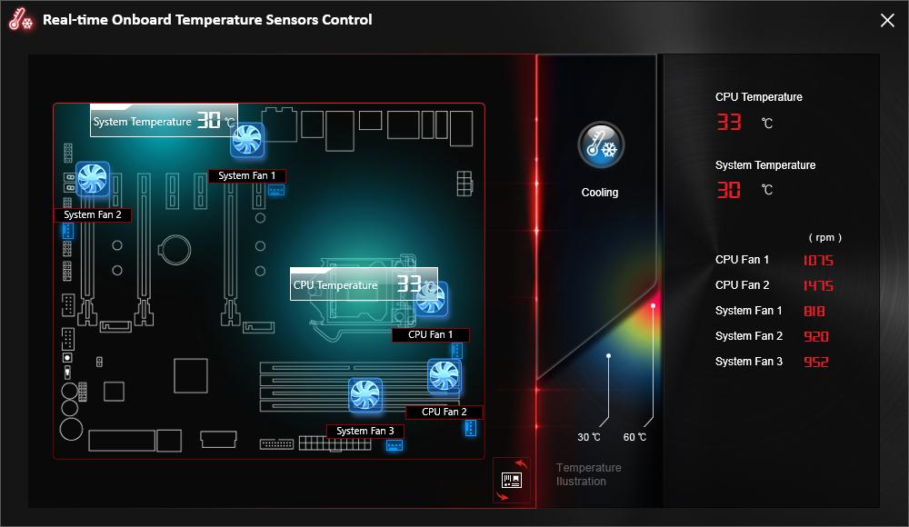 COMMND CENTER Z170 Sensore Control