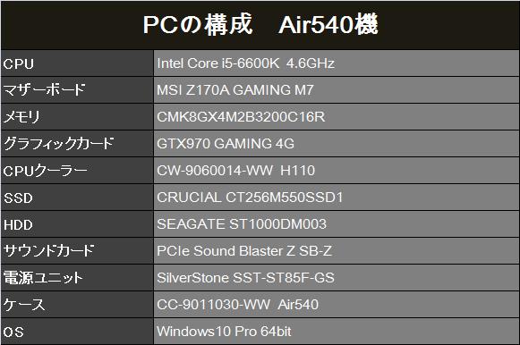 6600K PC構成