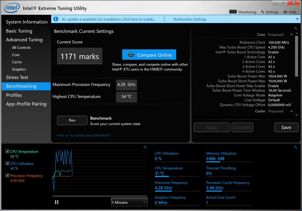 XTU 6600K 4 28GHz