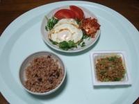 10/23 昼食 目玉焼き、納豆、寝かせ玄米