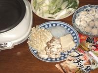 10/29 夕食 豚骨醤油餃子鍋
