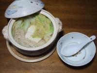 11/12 夕食 とんこつスープ鍋