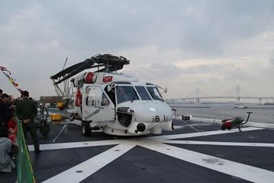 10/17 搭載されているヘリコプター  護衛艦いずも