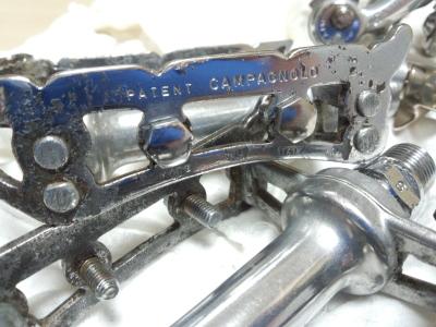 ロードバイクコンポバフ磨き