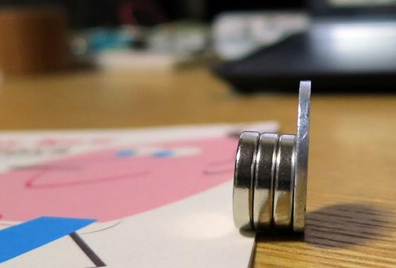 1円玉と磁石