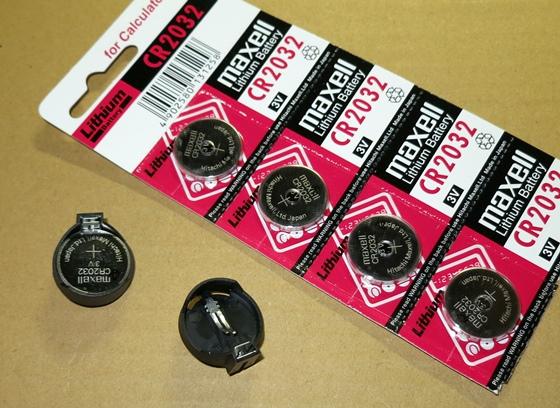 CR2032電池ホルダ