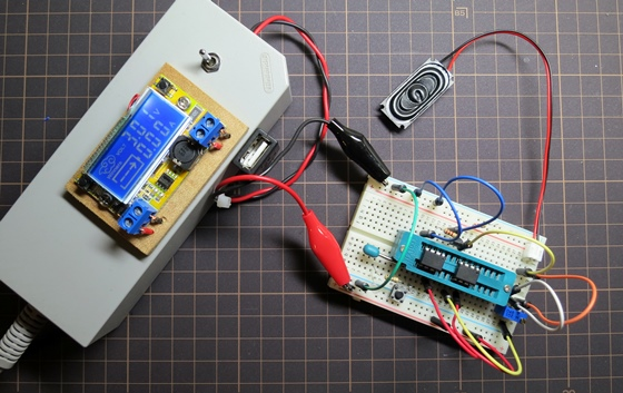 電子オルゴールブレッドボード版