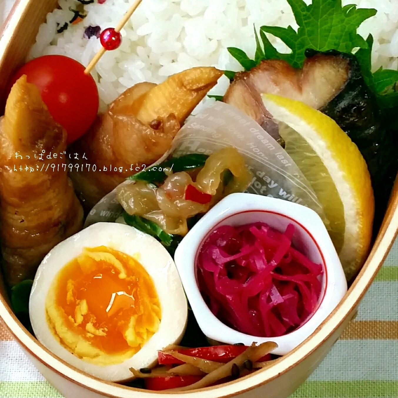 肉巻き筍弁当