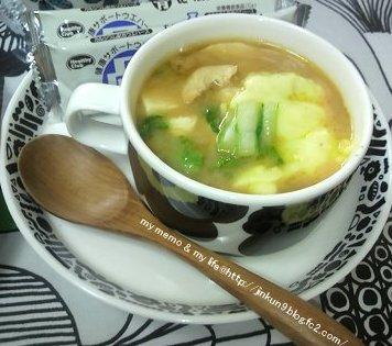 12-01 UNIKKO で ピリ辛な味噌汁にチーズを。。。
