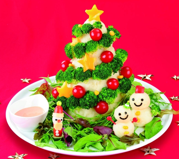 green tree+potato salad