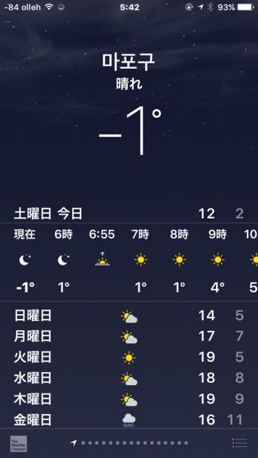 10月にして・・マイナス気温突入!
