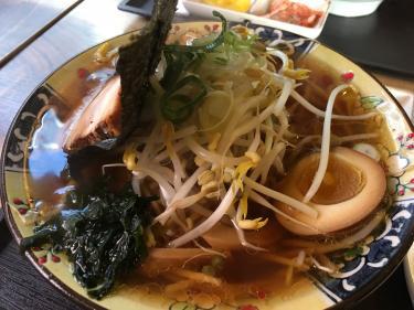 韓国で食べる醤油ラーメン
