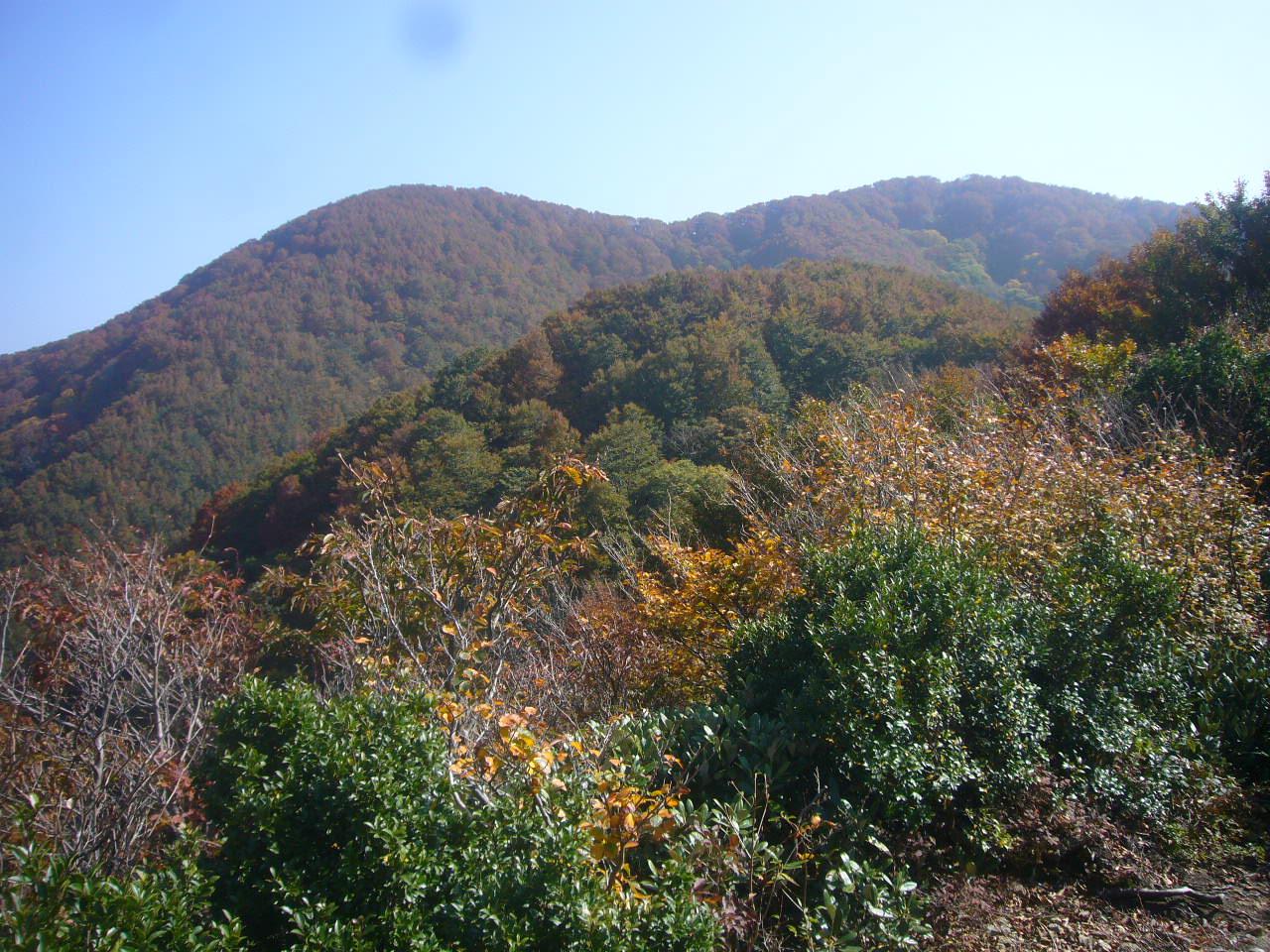 下山道から山頂 H27.10.21
