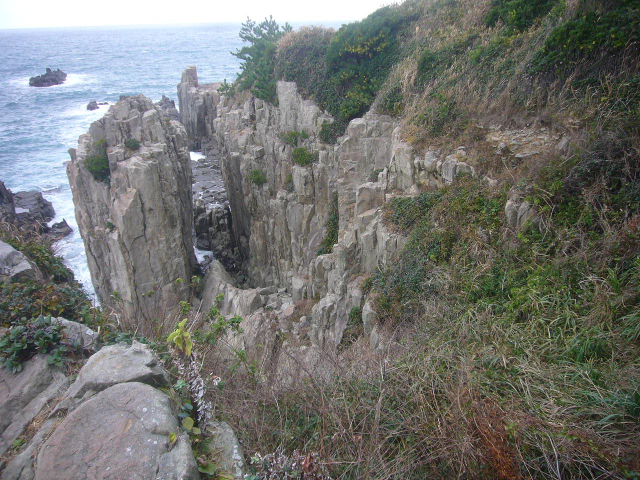 東尋坊の断崖 H27.10.31