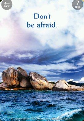 恐れてはいけません。
