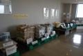 廃品がリサイクルされる工程を展示