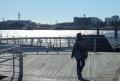 対岸は新港パーク