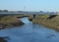 渡し場跡から見る旭橋
