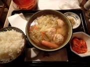 大手町 元祖やきとり串八珍 大手町ビル店 つくねとたっぷり野菜スープ定食(2016/3/14)