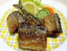 秋刀魚のバジルペパー唐揚げ 調理⑥