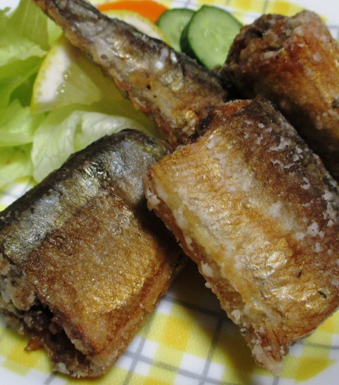 秋刀魚のバジルペパー唐揚げ B