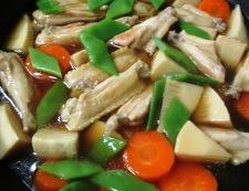 手羽中と筍のうま煮 調理⑤