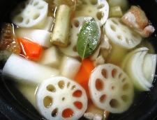 根菜スープカレー 調理③