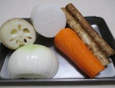 根菜スープカレー 材料①