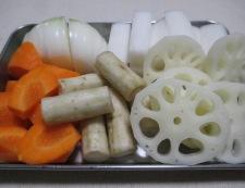 根菜スープカレー 【下準備】①