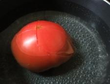 トマトの炒り卵添え 調理①
