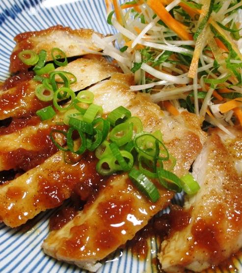 ポークソテー 梅醤油ソース 大