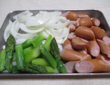 ソーセージのケチャップ炒め 調理①