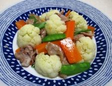 カリフラワーと豚肉の炒め物 調理⑥