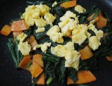 炒り卵ほうれん草 調理