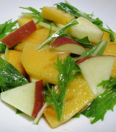 柿とりんごのシナモンサラダ 大