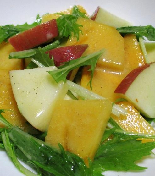 柿とりんごのシナモンサラダ 拡大